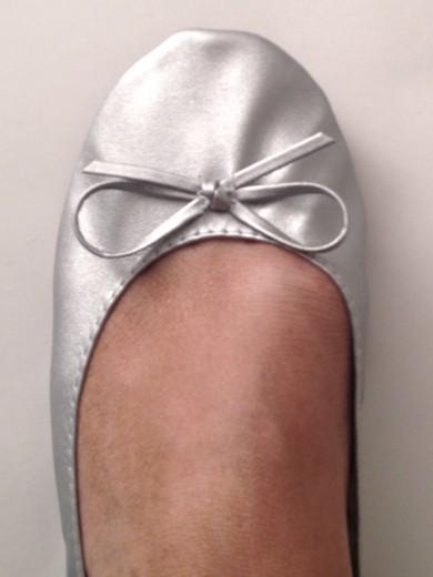Hi-Ho Silver foldable ballet flats