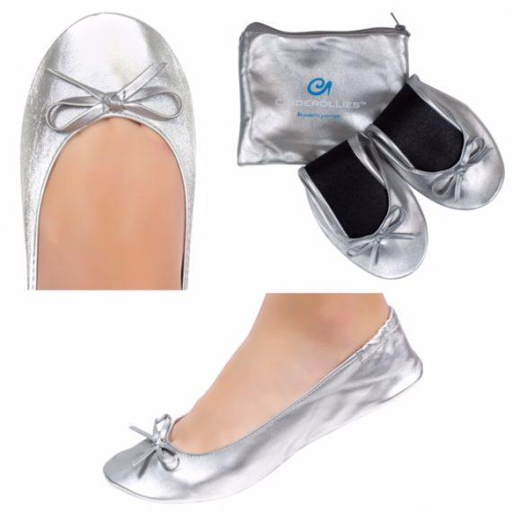 Hi-Ho Silver Foldable Rollable Ballet Flat