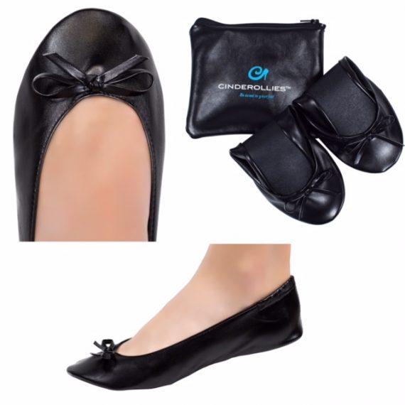 Midnight Black Foldable Rollable Ballet Flat